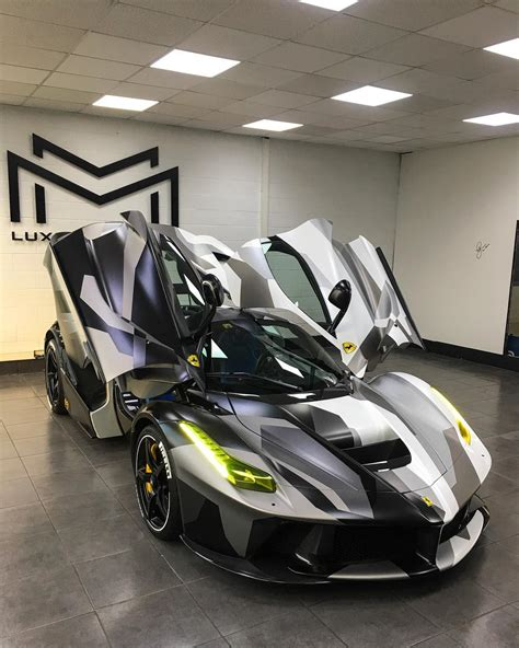 This is the second time ferrari has extended the laferrari production run for a charity auction. Ferrari LaFerrari wrapped in camouflage is a true beauty ...