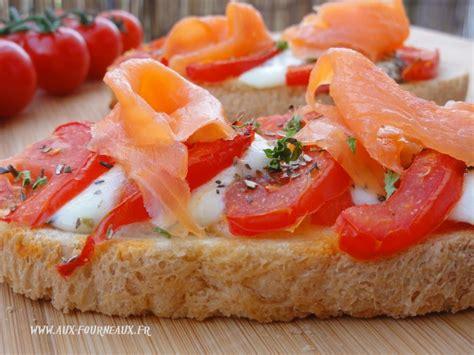 hyper cuisine bruschetta de tomate au saumon aux fourneaux