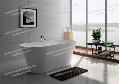 composite tub jingzun freestanding composite resin bathtub artificial