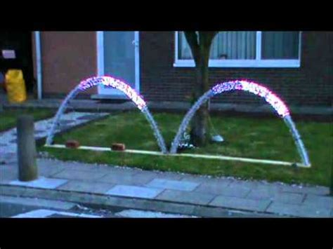 how to build leaping light arches for your christmas display