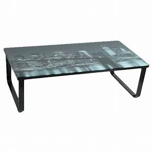 Pouf Exterieur Gifi : table basse verre new york ~ Teatrodelosmanantiales.com Idées de Décoration