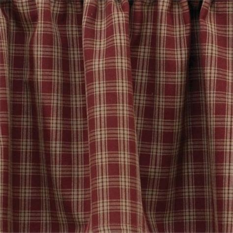 country curtains sturbridge plaid country primitive quot sturbridge quot shower curtain burgundy