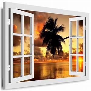 Bilder Xxl Leinwand : leinwand bild fensterblick boikal bilder xxl kunstdrucke 3d effekt wandbilder ebay ~ Frokenaadalensverden.com Haus und Dekorationen