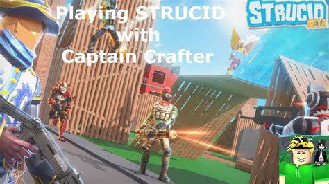 playing strucid  captain crafter strucid youtube