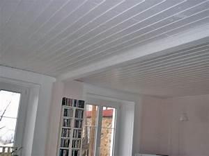 Lambris Pvc Pour Plafond : plafond lambris blanc maison travaux ~ Dailycaller-alerts.com Idées de Décoration