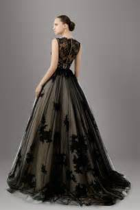 black gowns for wedding the and sophisticated touches on black wedding gowns godfather style
