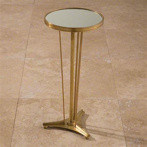 antique brass side table global views french moderne side table antique brass mirror