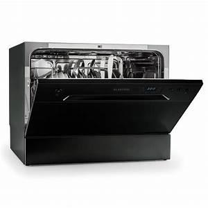 Klarstein amazonia 6 nera tischgeschirrspulmaschine for Tischgeschirrspülmaschine