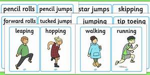 Pe Physical Action Word And Picture Cards