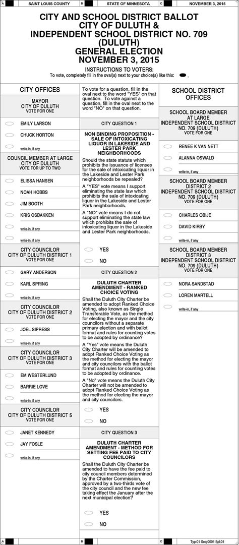 duluth  general election sample ballot perfect