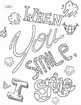 Coloring Pages Smile Adult Printable Colouring Sheets Dental Quote Offthecusp Food Version Faces sketch template