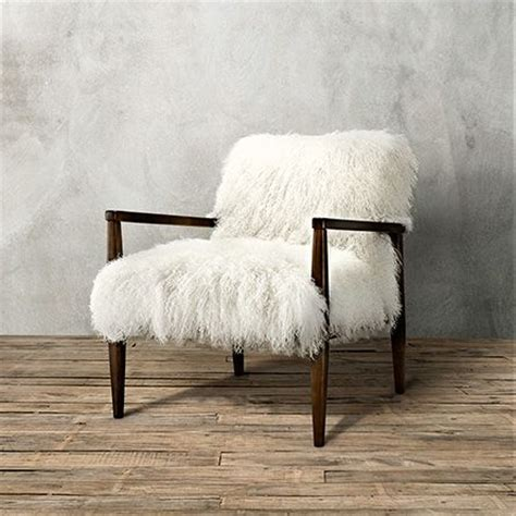 tansy chair  tibetan ivory sheepskin arhaus furniture