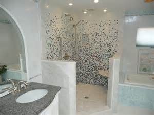 Bathroom Update Ideas Glass Tile Shower Eclectic Bathroom Philadelphia By Stonemar Company Llc