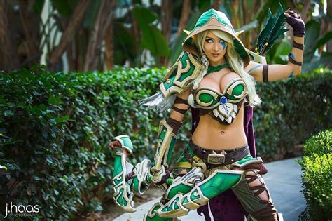 world  warcraft alleria windrunner cosplay  kate