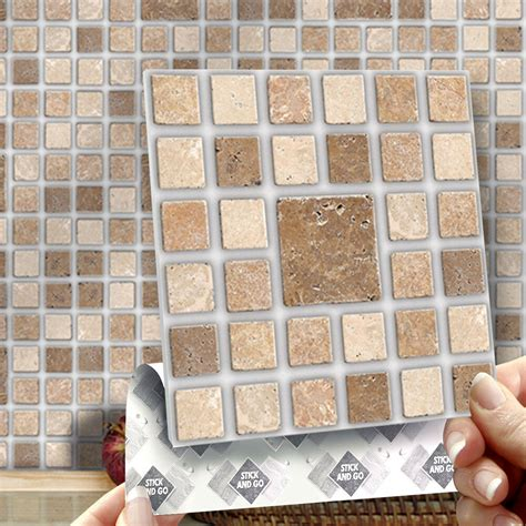8 Roman Mosaic Stick On Self Adhesive Wall Tile Stickers