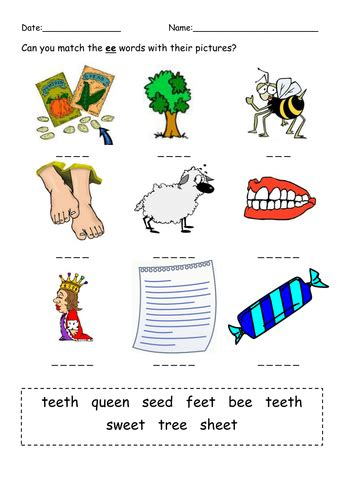 phonics phase  practice worksheets teaching resources