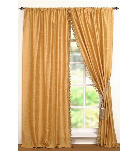 buy deco window yellow polyester 96 inch door curtain