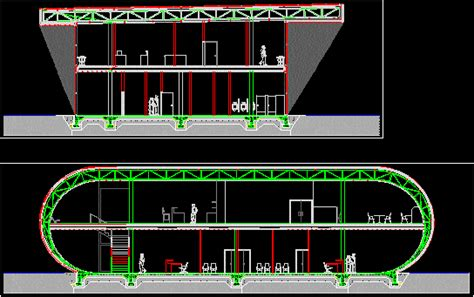 steel structure  alucobond exterior dwg section