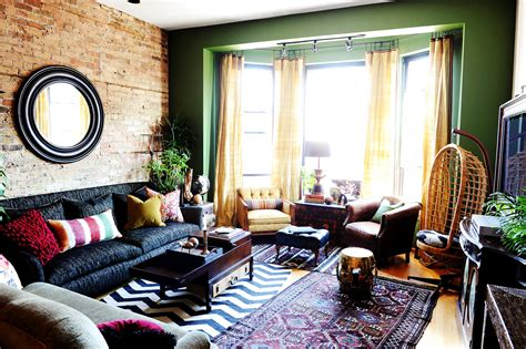 Living Rooms Round Up : How To Decorate With Round Mirrors Your Living Room