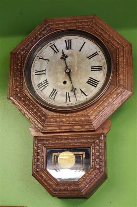 antique  ingraham kitchen clock circa   bristol