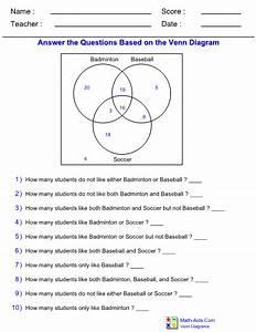 Venn Diagram Worksheets With Answer Sheet I Teachersherpa