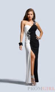 2015 black and white prom dress mayo style