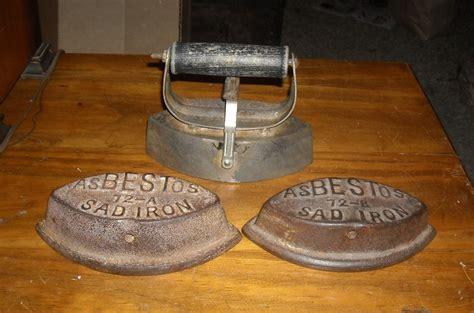 asbestos sad iron set cover   irons collectors weekly