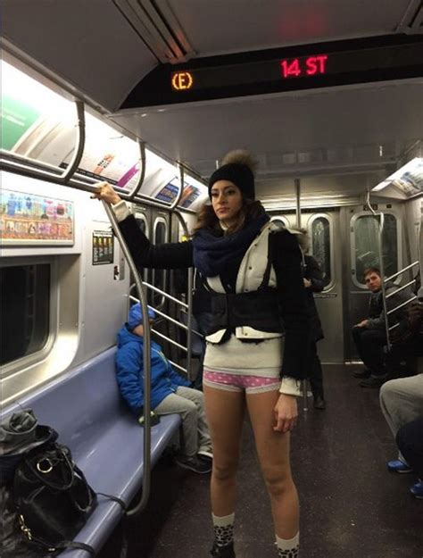 pants subway ride     huge success  pics