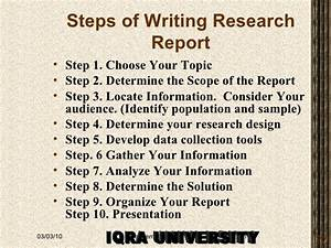 example of research report writing