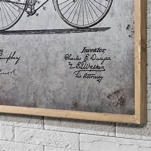 Accroche Murale Velo : alu peinture murale 80x60cm v lo dessin technique esquisse encadr ebay ~ Dode.kayakingforconservation.com Idées de Décoration