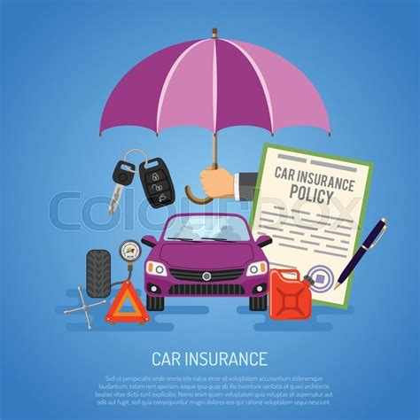 Car Insurance Concept For Poster, Web Site, Advertising