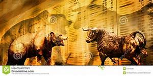Bear And Bull Stock Market Stock Image - Image: 21042281