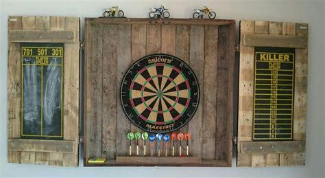 pallet dartboard cabinet dart board cabinet dart board