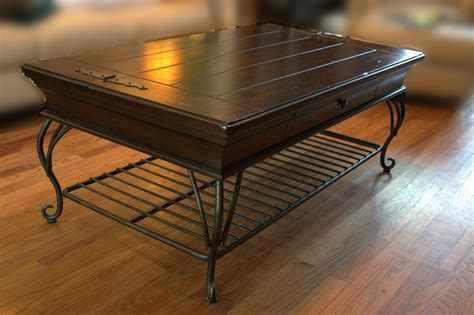 coffee tables ideas amazing wrought iron and wood coffee