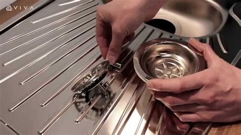 how to install strainer in kitchen sink how to install or replace a basket strainer sink waste in 9456