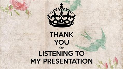 Thank You For Listening To My Presentation Poster  Duong  Keep Calmomatic