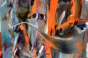 orange and black painting square original pandemonium
