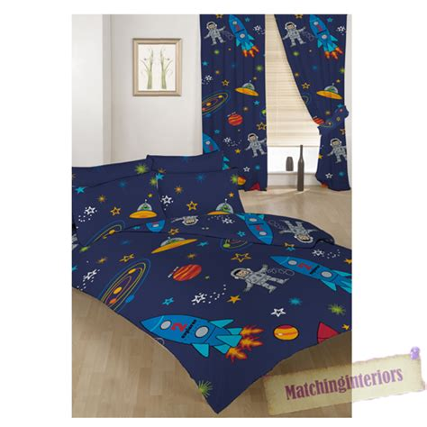rocket duvet cover bed duvet cover set space boy planets rocket 2