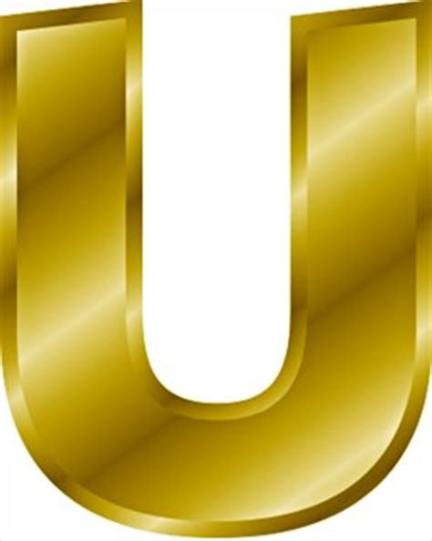 free gold letter u clipart free clipart graphics images and photos domain clipart