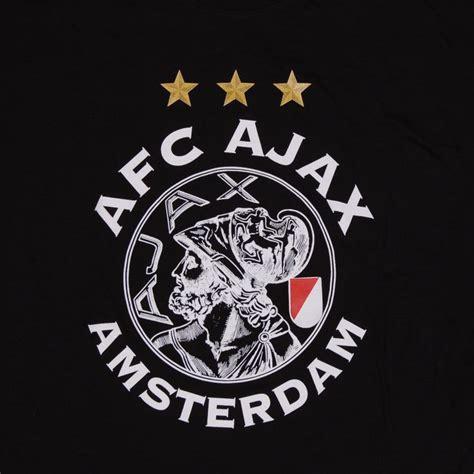 ajax  shirt  logo  stars sr black classic logo fashion voetbal posters voetbal