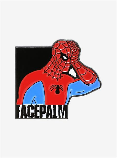 Marvel Spider-Man Facepalm Enamel Pin