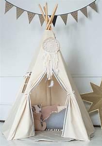 Fabriquer Tipi Enfant : comment fabriquer un joli tipi pour une chambre d enfant tipi tipi kinderzimmer kinder ~ Voncanada.com Idées de Décoration