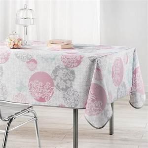 Nappe Rose Poudré : nappe l240 cm barbara poudre nappe de table eminza ~ Teatrodelosmanantiales.com Idées de Décoration