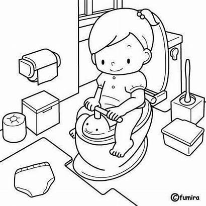 Coloring Higiene Picasa Cartoon Training Potty Juan
