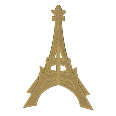 Tower Decorations by Eiffel Tower Table Gold Glitter