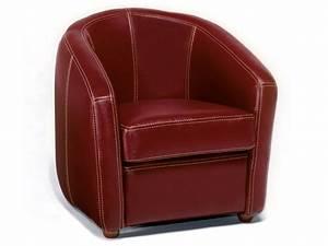 Fauteuil Cuir Rouge : fauteuil cuir ponza rouge 38668 ~ Teatrodelosmanantiales.com Idées de Décoration