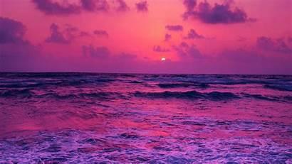 Sunset Pink Sea Wallpapers Ocean Water Purple