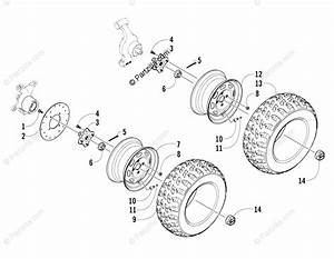 Arctic Cat Side By Side 2008 Oem Parts Diagram For Wheel And Tire Assembly