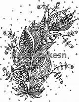 Coloring Adult Feather Dream Printable Feathers Catchers Blooming Instant sketch template