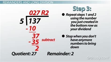 remainder  math definition  video lesson